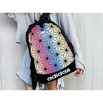 ADIDAS fashion hot seller lady's gradient stitching shopping backpack #1