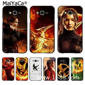 MaiYaCa The Hunger Games movie fire bird Coque Shell Phone Case for Samsung J1 J5 J7 J3 Note3 Note4 Note5
