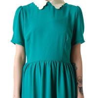 Moon Collection Little Darling Scallop Collared Dress