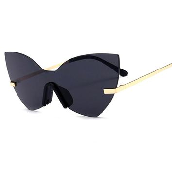 Women Fashion Brand One Piece Lens Coating Mirror Sun Glasses