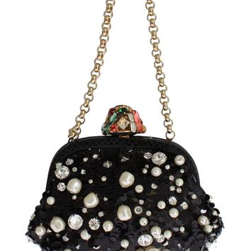 MISS DEA Bag Snakeskin Pearl Crystal Purse Clutch