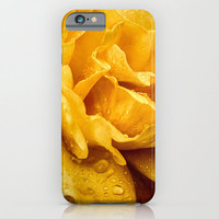 Yellow Drops - iPhone 6 - iPhone6 Plus Cases - Slim and Tough options available - Rose Petals - Tech Accessory - Floral Design Case