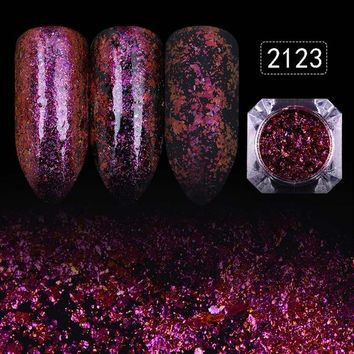 12 Colors Starry Sky Nail Glitters Powder 1 Box Gorgeous Nail Art Dust Shinning Sequins Nail Art Decorations
