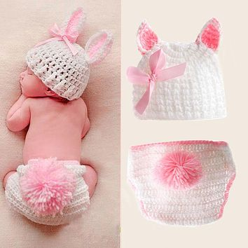Boys Girls Cute Crochet Knit Costume Baby Photo Photography Outfits Prop