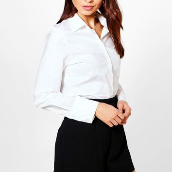Mia Fitted Cotton Shirt | Boohoo