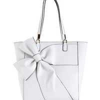 Sale-white Bow-tiful Tote Bag