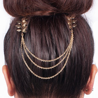 Gold Leaf Hair Chain