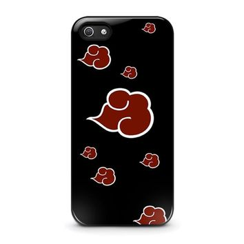 naruto akatsuki clouds iphone 5 5s se case cover  number 1