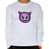 Smiling Face With Horns Emoji Tee Shirts