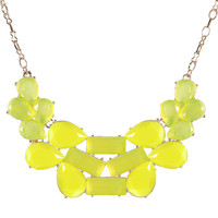 Fashion Technicolor Bib Statement Necklace