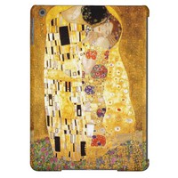 The Kiss Gustav Klimt romantic love Art Nouveau iPad Air Cover