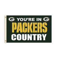 Green Bay Packers NFL You're in Packers Country 3'x5' Banner Flag