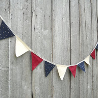 Fabric Wedding Bunting, Pennant Flag Banner, Birthday Party Photo Prop, Reception Head Table Backdrop, Wall Hanging