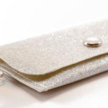 Snow Sparkle  ID Wallet by DaogreerEarthWorks on Etsy