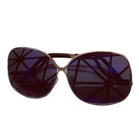 Vintage Blue Alloy Bar Full Frame Sunglasses