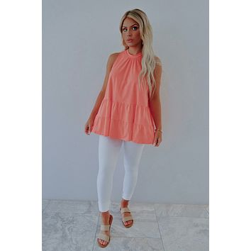 Sunday Brunch Top: Coral