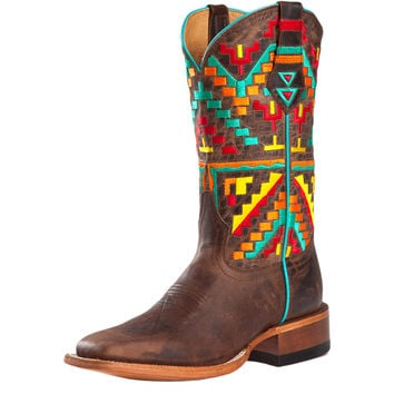 Women's Johnny Ringo Mad Dog Bone Navajo Embroidered Cowboy Boots