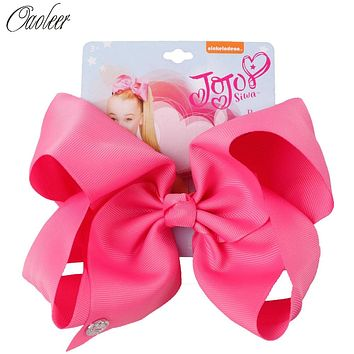 "8"" Large Hair Bows for Girls Ribbon Bow With Alligator Clips For Kids Hairpins Handmade Bowknot Girls Headwear Hair Accessories"