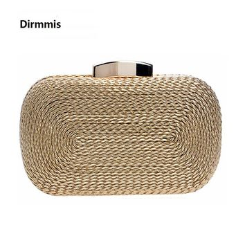 2018 new women messenger bags brand fashion wallet woven bag exquisite bride evening bag luxury knitting clutch vintage hand bag