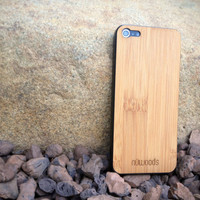 Real Caramel Bamboo Unique Wood iPhone 5 Skin Case Cover Decal