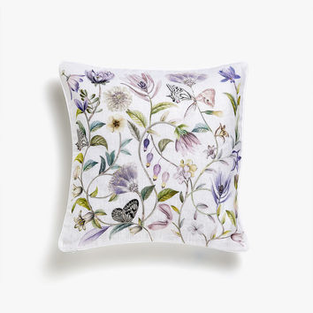 FLORAL LINEN CUSHION COVER - Throw Pillows - BEDROOM | Zara Home United States of America