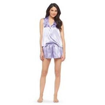 Women's Satin Short Pajama Set - Gilligan & O'Malley™ : Target