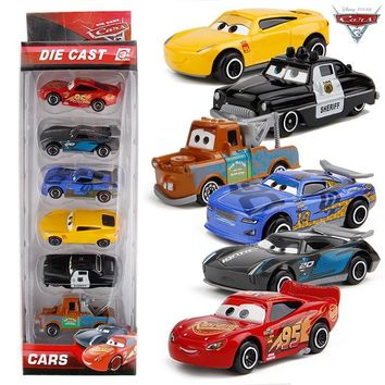 1:64 Disney Pixar Cars 3 Metal Car Toys Lightning McQueen Black Storm Jackson Cars Toy Boys Birthday Christmas Gift