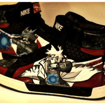 Custom Painted Naruto Fan Art on Nike shoes
