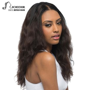 Joedir Hair Brazilian Virgin Human Hair Body Wave Long Human Hair Wigs For Women Color 2# Only 18 Inch 152g Free Shipping