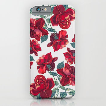 Roses  Pattern iPhone & iPod Case by MIKART