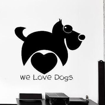 Wall Stickers Dog Funny Animal Love Kids Pets Decor Mural Vinyl Decal Unique Gift (ig056)