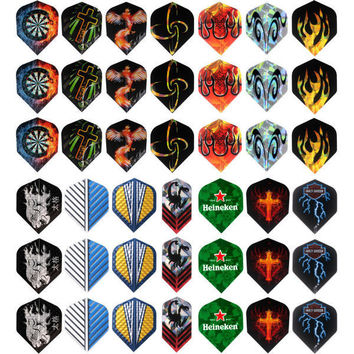 150 pcs/lot Dart Flights in 50 Kinds of Patterns RARE Darts Fin Feather Accessories Super Value Flights Pack