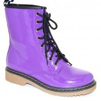 Frankie Hi Dr. Martens Knockoff Purple Boot by Vintage MODOCAT