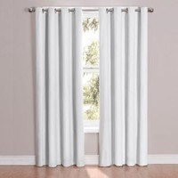 Eclipse, Cassidy Blackout White Grommet Curtain Panel, 95 in. Length, 12423052095WHI at The Home Depot - Mobile