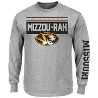 Mizzou Tigers Tigers Grey Breathe Victory Long Sleeve Tee
