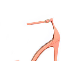 Steve Madden Stecy Coral Neon Ankle Strap Heels
