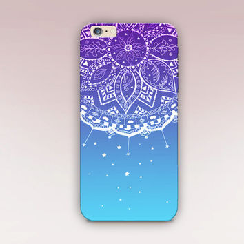 Ombre Mandala Phone Case - iPhone 6 Case - iPhone 5 Case - iPhone 4 Case - Samsung S4 Case - iPhone 5C - Tough Case - Matte Case - Samsung