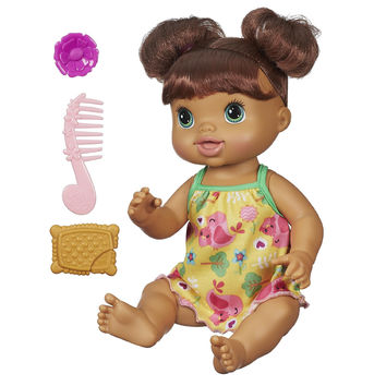 Baby Alive Pretty in Pigtails Baby Doll - Brown Hair