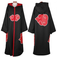 Naruto Akatsuki Uchiha Itachi Cosplay Cloak Hooded