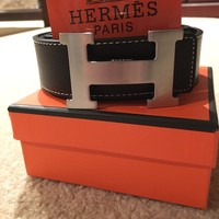 New Authentic Hermes men's belt