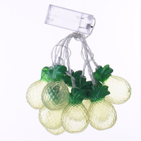 Pineapple LED String Night Light Battery Operated Lamp Party Decoration Lights 10Pcs/Set