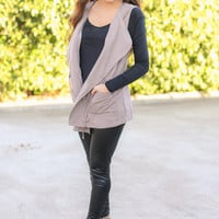 Swoon Over Vest - Taupe