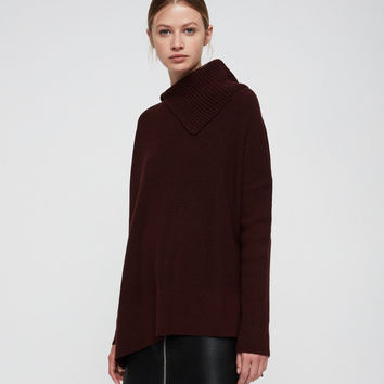 ALLSAINTS CA: Womens Hettie Sweater (dark_rust_red)