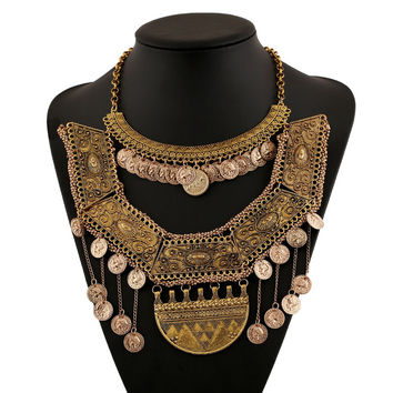 Gift New Arrival Shiny Stylish Jewelry Vintage Alloy Tassels Necklace [6056656257]