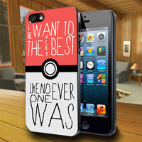Nintendo Pokemon Pikachu Quote - Print on Hard Cover For iPhone 4/4S and iPhone 5 Case - Please Leave Message For Device And Colour Case