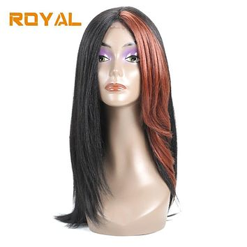 Royal Brazilian Non-Remy 100% Human Hair Wigs Long Hair Whole Machine Wig For Black Women #33 Color 14Inches