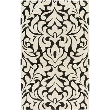 Surya Modern Classics Medallions and Damask Black CAN-2080 Area Rug