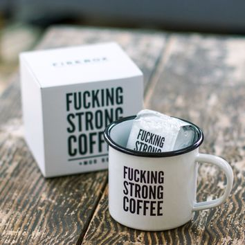 F*cking Strong Coffee & Mug Set | Firebox.com - Shop for the Unusual