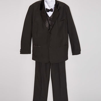 Tazio Black Five-Piece Lapel Tuxedo Set- Infant, Toddler & Boys | zulily