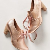 Rutherford Oxford Heels by Anthropologie Rose Gold 37 Euro Heels